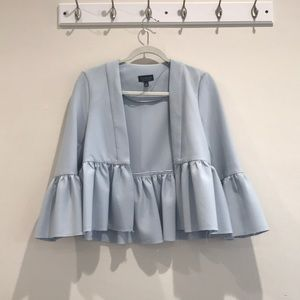 Topshop powder blue blazer